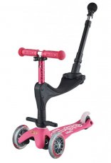 Step Mini 3 In 1 Deluxe Pink Pushbar